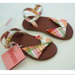 Gymboree Cherry Baby Plaid Sandals Shoes